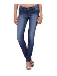 Yepme Cotton Solid Ladies Jeans - Blue