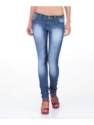 Yepme Cotton Lycra  Solid Ladies Jeans - Blue - 12463108