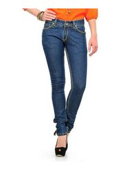 Yepme Cotton Solid Ladies Jeans - Dark Blue