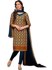 Khushali Fashion Crepe Printed Dress Material -Hnyfdzl35006
