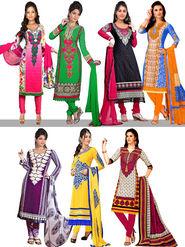 Heena Set Of 7 Pakistani Printed Dress Material By Pakhi (7PDM3)