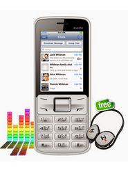 Hitech kick 535 with Preloaded WhatsApp - White & Silver
