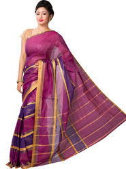 Ishin Cotton Printed Saree - Maroon - SNGM-2437