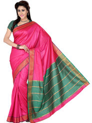 Ishin Polyester Printed Saree - Pink - STCS-2134
