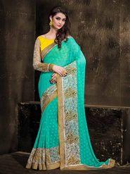 Viva N Diva Georgette Floral Embroidery Saree -Kalki-03-3010