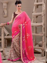 Viva N Diva Georgette Embroidered Saree Kanvi-2251