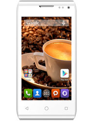 Karbonn Alfa A99 Dual Sim Android Kitkat 3G Phone - White & Gold