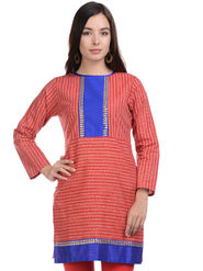 Lavennder Khadi Striped Kurti -LK-623350
