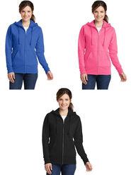 Combo of 3 Lavennder Solid Fleece Pink Blue & Black Hooded Sweatshirt -LSS-1055