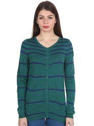 Levis Green Striped Woolen Sweater -os10