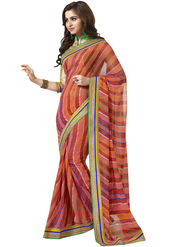 Nanda Silk Mills Embroidered Work Printed Saree With Blouse Piece _MK-2313
