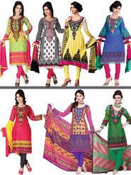 Maahika Set of 7 Pakistani Dress Material with Lace