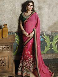 Zoom Fabrics Net Embroidered Saree -N1606