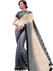 Indian Women Georgette And Satin Chiffon  Saree -Ra10518