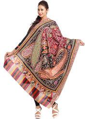 Aapno Rajasthan Pashmina  Multicolor Shawl -Sh1418
