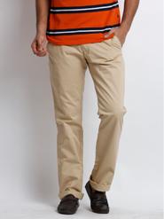Skookie Plain Cotton Trouser For Men - Khaki_SKTR 133