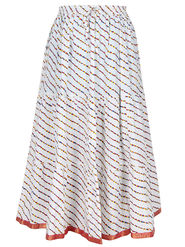 Amore Printed Cotton Skirt -Skv041W