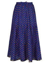 Amore Printed Cotton Skirt -Skv046B