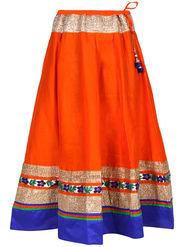 Amore Plain Cotton Embellished Skirt -Skv074O