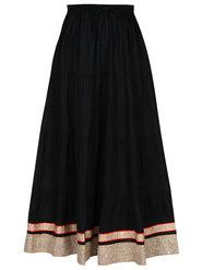 Amore Plain Cotton Embellished Skirt -Skv085B