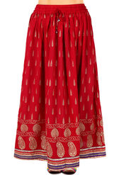 Amore Printed Rayon Skirt -SKV094R