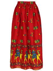 Amore Printed Cotton Skirt -Skv132R