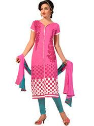 Khushali Fashion Chanderi Embroidered Dress Material -Ssblfr1010