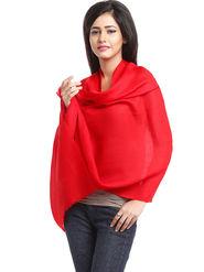 Aapno Rajasthan Pashmina  Real Red Shawl -St1401
