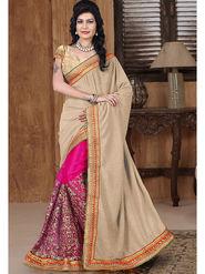 Viva N Diva Lycra and net Embroidered Saree Sangini-189