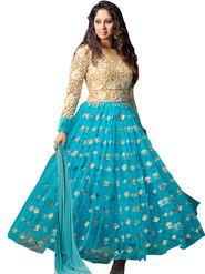 Thankar Semi Stitched  Silky Net Embroidery Dress Material Tas278-14013