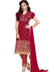 Thankar Semi Stitched  Cotton Embroidery Dress Material Tas280-2305