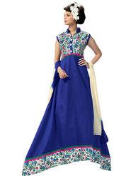 Thankar Semi Stitched  Banglori Silk Embroidery Dress Material Tas289-9706