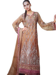 Thankar Semi Stitched  Faux Georgette Embroidery Dress Material Tas300-2036