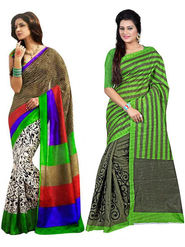 Pack of 2 Thankar Printed Bhagalpuri Saree -Tds137-211.212