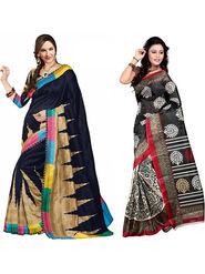 Pack of 2 Thankar Printed Bhagalpuri Saree -Tds137-233.234