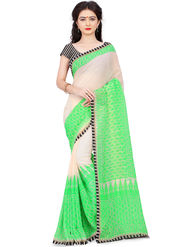Triveni Printed Art Silk Green Saree-trv06
