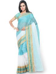 Triveni Zari Worked Art Silk Sky Blue Saree-trv08