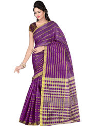 Triveni Dyed Art Silk Violet Saree-Trv09