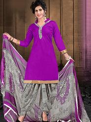 Viva N Diva Cotton Lace Work Embellished Unstitched Suit Tanaz-104