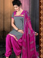 Viva N Diva Cotton Lace Work Embellished Unstitched Suit Tanaz-113