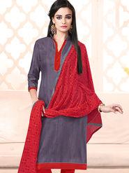 Viva N Diva Bhagalpuri Silk Embellished Unstitched Suit Utsav-5016