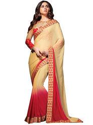 Nanda Silk Mills Georgette Embroiderd Saree -Vf-105