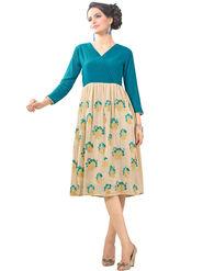 Viva N Diva Georgette Floral Embroidery Kurtis -Vnd Vol 03-1017