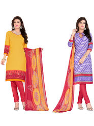 Khushali Fashion Crepe Printed Dress Material With two Top -VRMGEV25026