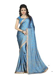 Khushali Fashion Silk Crepe Jacquard Saree(Blue,Beige)_YNCHN20551