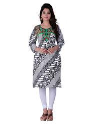 Viva N Diva Cotton Rayon Printed Kurtis -Zeesha-Vnd-2008-B