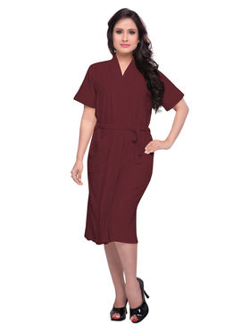 Burgundy Turkish Cotton Bathrobe_DB-BR-RTM-219