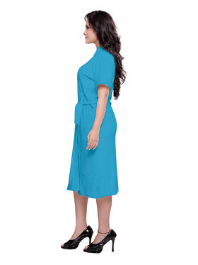 Blue Turkish Cotton Bathrobe_DB-BR-RTM-204