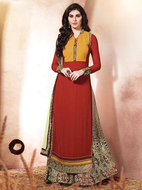 Viva N Diva Embroidered Pure Chanderi Silk Semi Stitched  Suit 10025-Elnaa