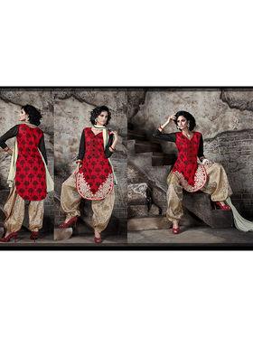 Viva N Diva Heavy Bhagalpuri Embroidered Semi-Stitched Suit 10032-Shriyaa